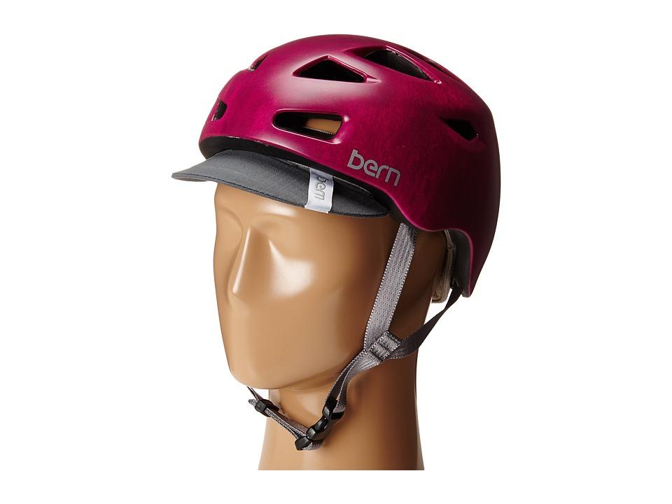 Bern - Melrose w/ Flip Visor (Satin Fuchsia Acid Wash) Snow/Ski/Adventure Helmet