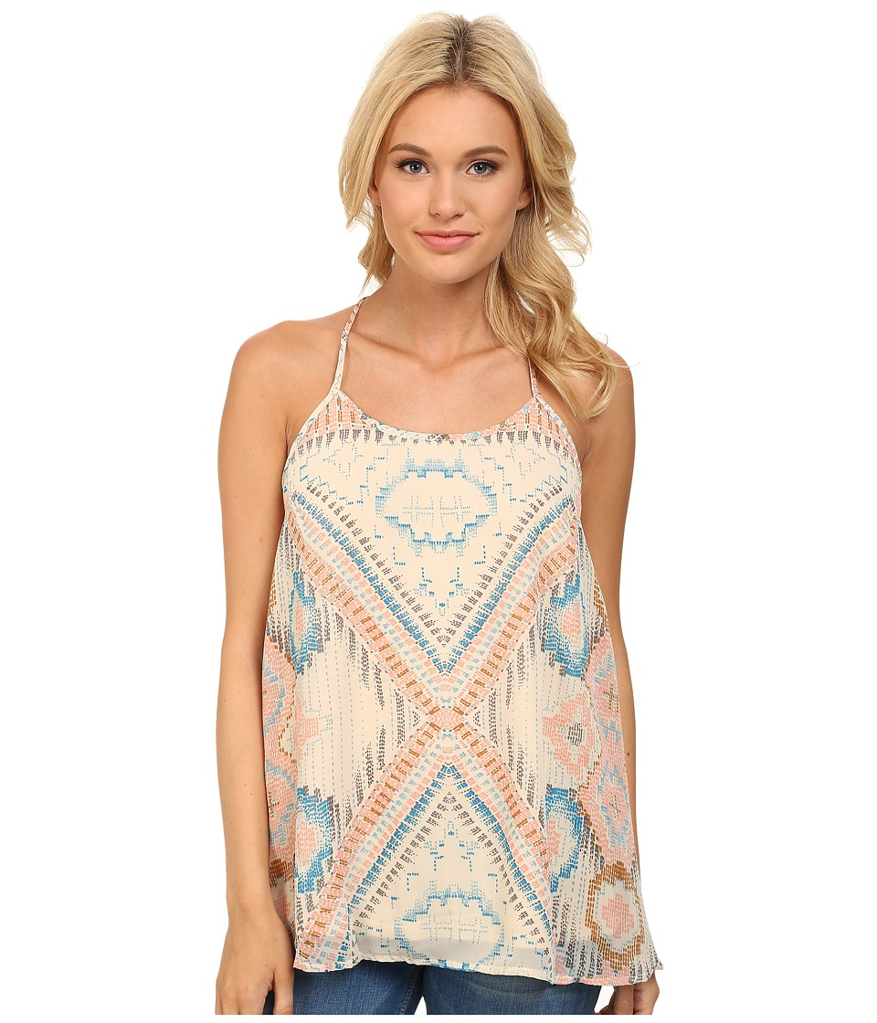 Stetson - Block Aztec Print Tank (White) Women's Sleeveless