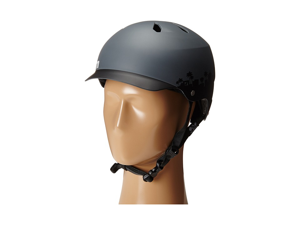 Image of Bern - Berkeley w/ Flip Visor (Matte Blue Acid Wash) Snow/Ski/Adventure Helmet