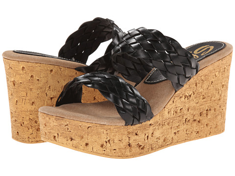 Sbicca - Manaus (Black) Women's Wedge Shoes