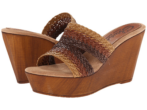 Sbicca - Cayucos (Brown/Cream) Women's Wedge Shoes