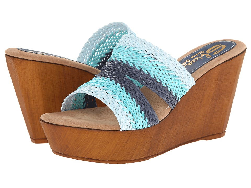 Sbicca - Cayucos (Blue Multi) Women's Wedge Shoes