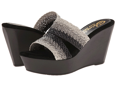 Sbicca - Cayucos (Black) Women's Wedge Shoes