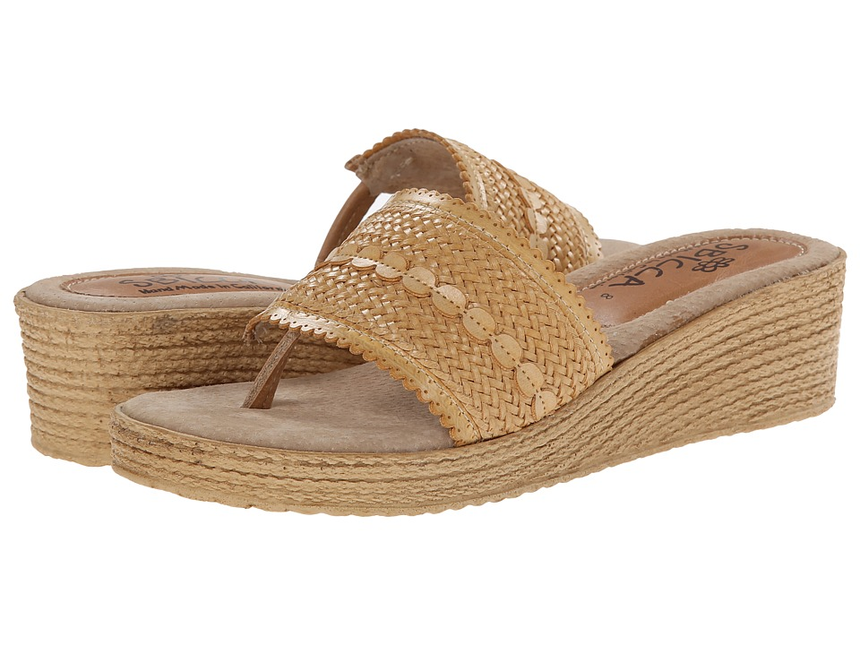 Sbicca - Newland (Natural) Women's Wedge Shoes