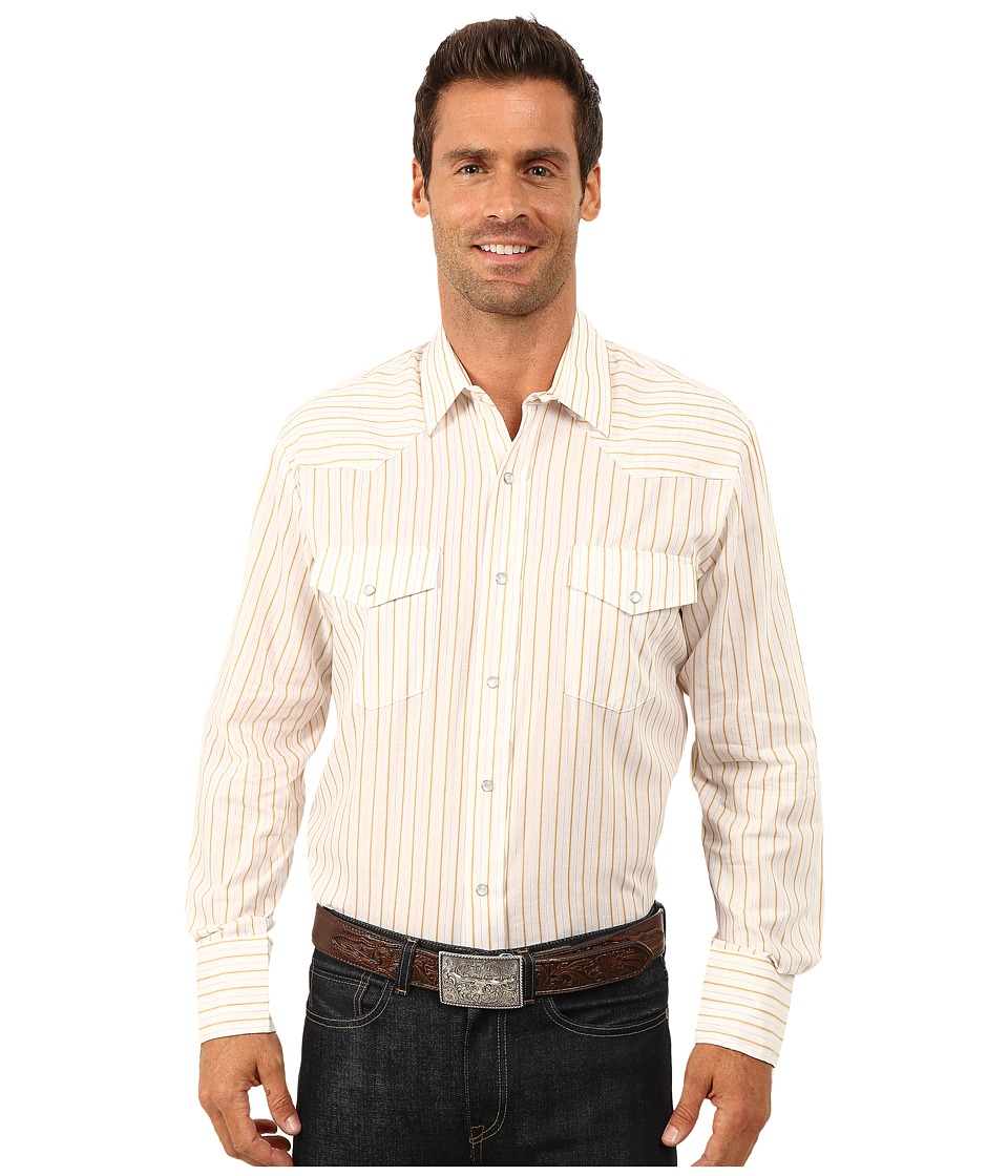 Roper - 9732 Gold Stripe w/ Lurex (White) Men's Clothing