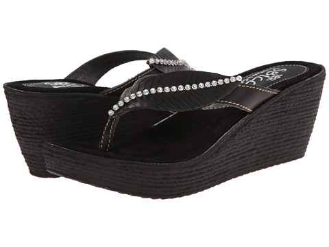 Sbicca - Recife (Black) Women's Wedge Shoes