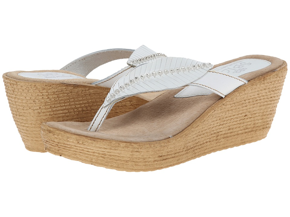 Sbicca - Recife (White) Women's Wedge Shoes