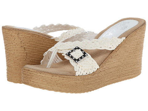 Sbicca - Kahuna (White) Women's Wedge Shoes