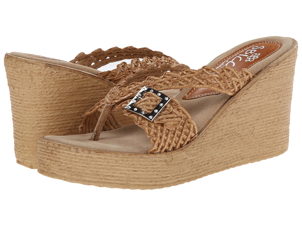 Sbicca - Kahuna (Tan) Women's Wedge Shoes