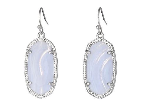 Kendra Scott - Dani Earring (Rhodium/Blue Lace Agate) Earring