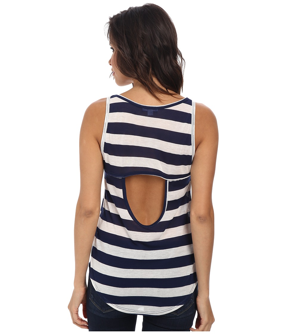 LNA - Limbo Tank (White/Navy) Women's Sleeveless