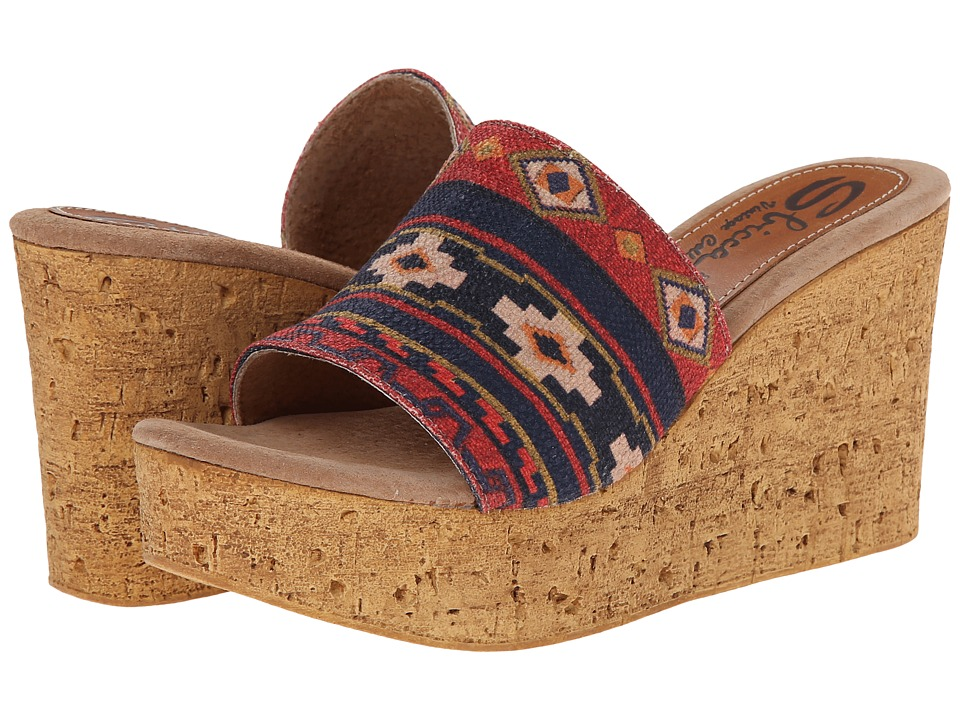 Sbicca - Cayenne (Red Multi) Women's Wedge Shoes