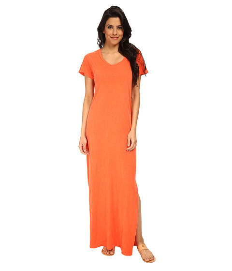 LNA - T-Shirt Maxi Dress (Spring Coral) Women
