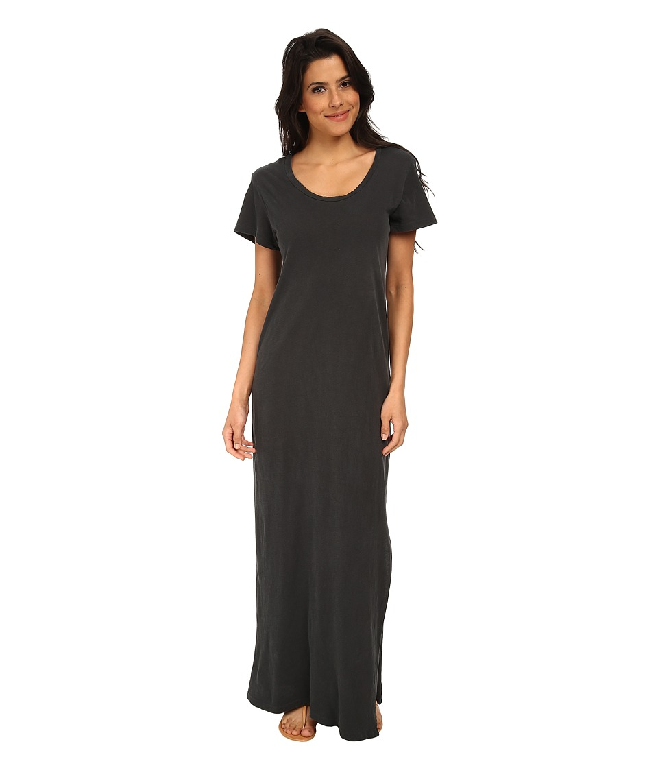 LNA - T-Shirt Maxi Dress (Vintage Black) Women's Dress