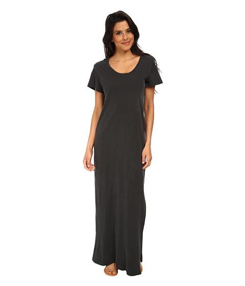 LNA - T-Shirt Maxi Dress (Vintage Black) Women