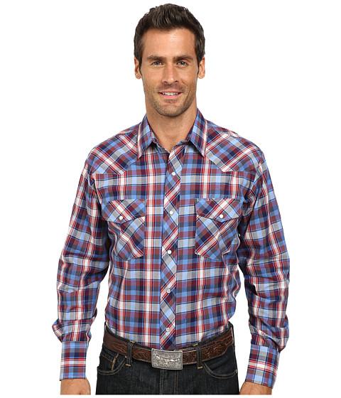 Roper - 9743 Blue Red Plaid w/ Blue Lurex (Blue) Men's Clothing