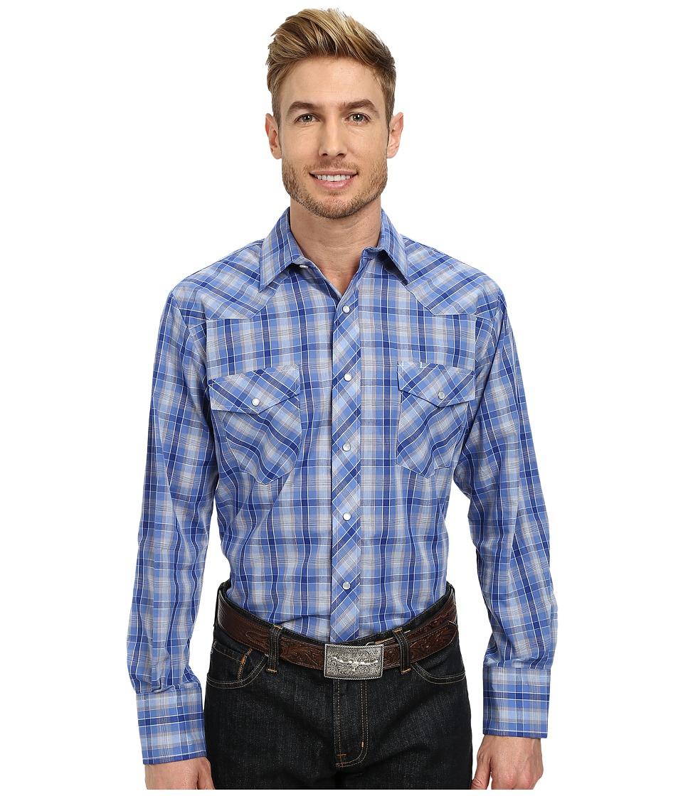 Roper - 9744 Blue Grey Small Plaid w/ Lurex (Blue) Men's Clothing