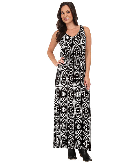 Stetson - Aztec Print Top (Black) Women's Dress