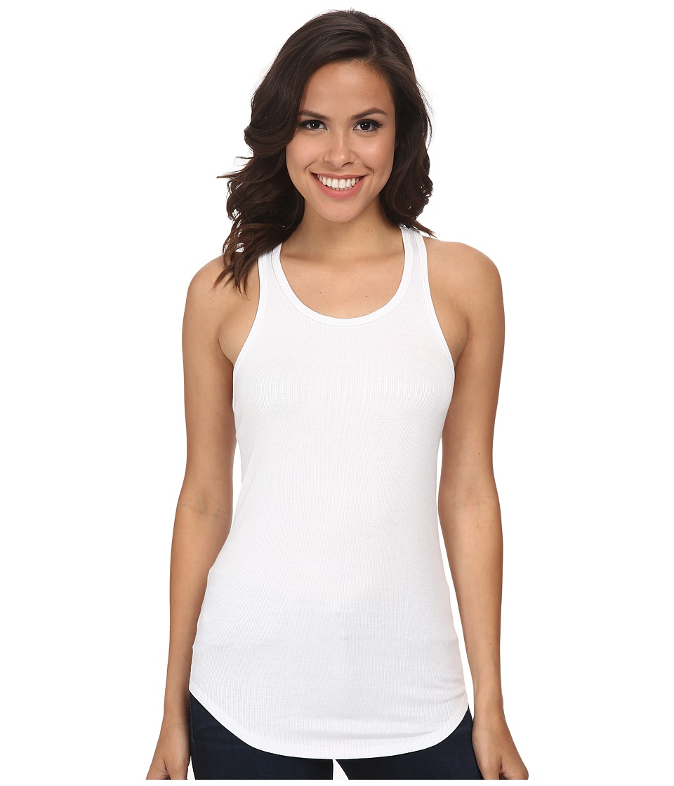 LNA - Ribbed Tank (White) Women's Sleeveless