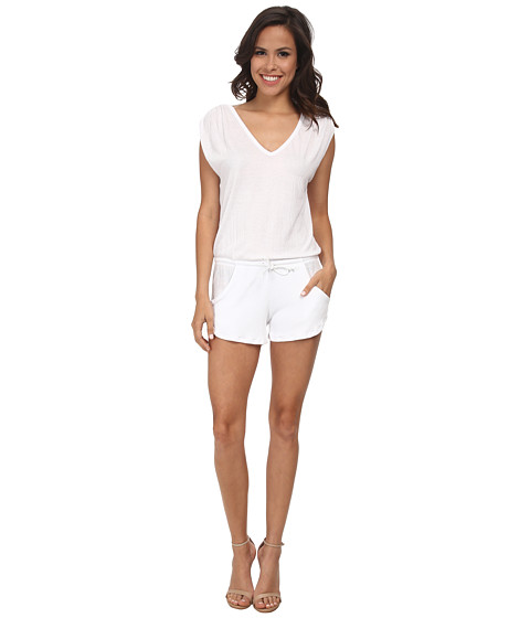 LNA - Lag Tank Romper (White) Women's Jumpsuit & Rompers One Piece