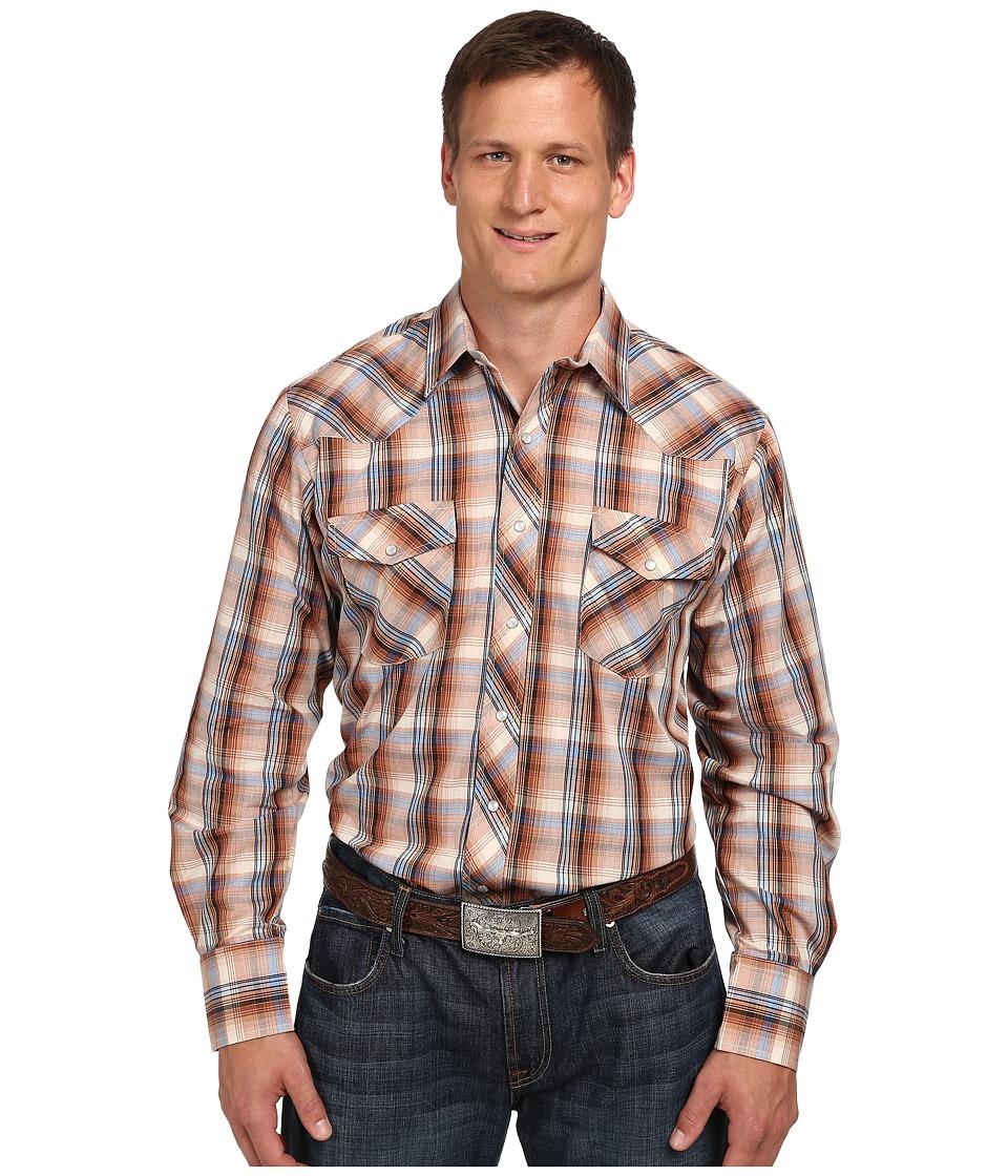 Roper - 9742 Big Tall Multi Brown Plaid w/ Lurex (Brown) Men's Clothing