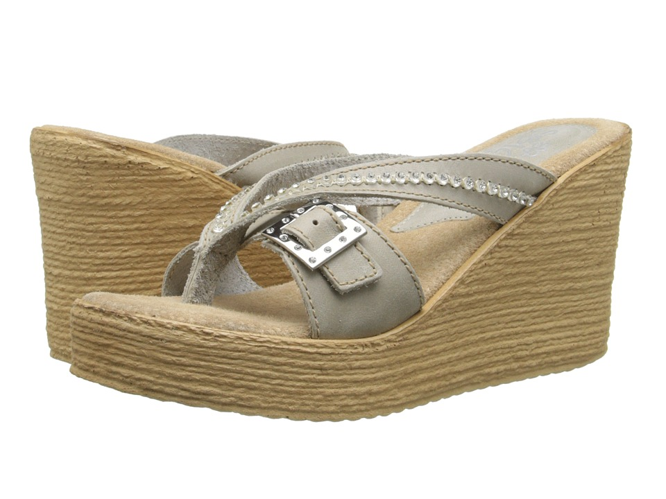 Sbicca - Pescadero (Stone) Women's Wedge Shoes