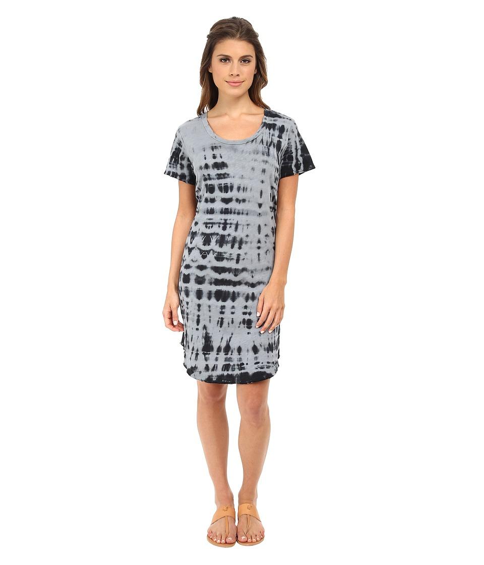 LNA - Kona Tee Dress (Black/White Tie Dye) Women's Dress