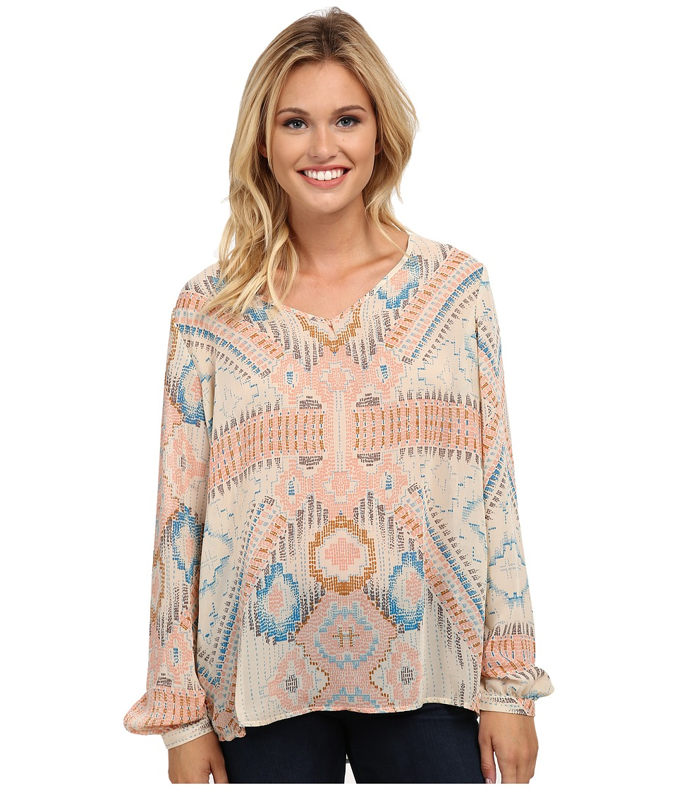 Stetson - Block Aztec Print Blouse (White) Women's Blouse
