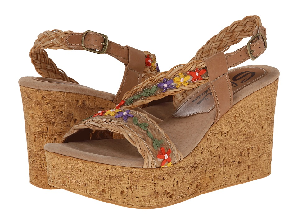 Sbicca - Palmera (Natural Multi) Women's Wedge Shoes