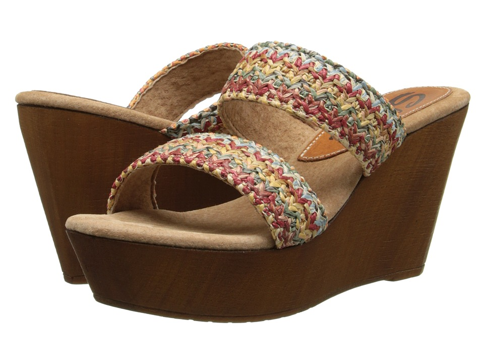Sbicca - Lighthouse (Red Multi) Women's Wedge Shoes
