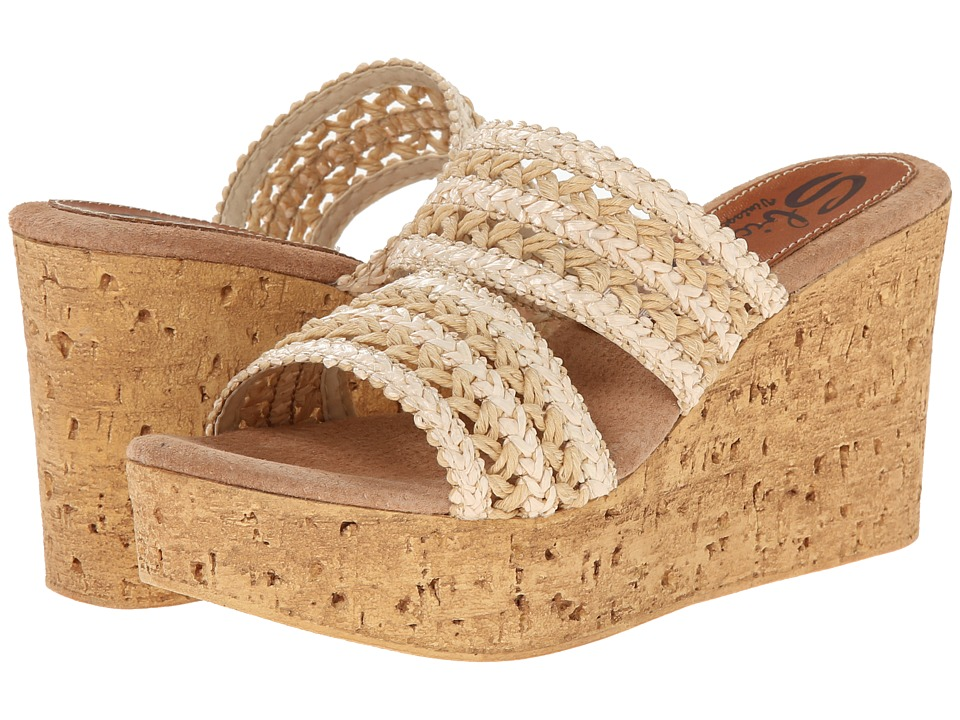 Sbicca - Viejo (Natural) Women's Wedge Shoes