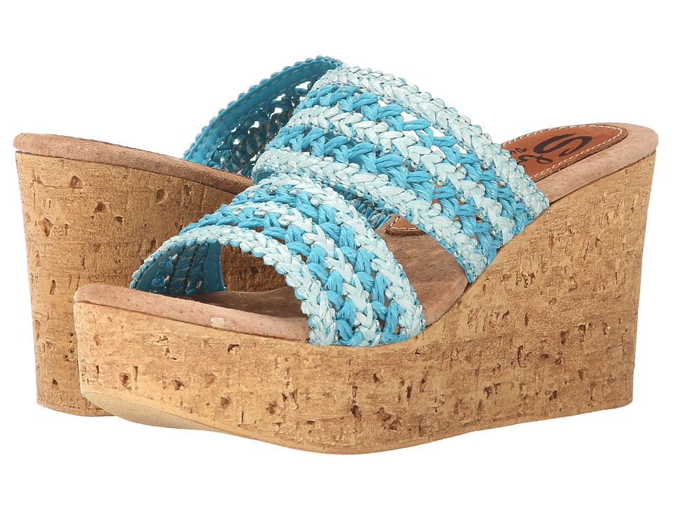 Sbicca - Viejo (Blue) Women's Wedge Shoes