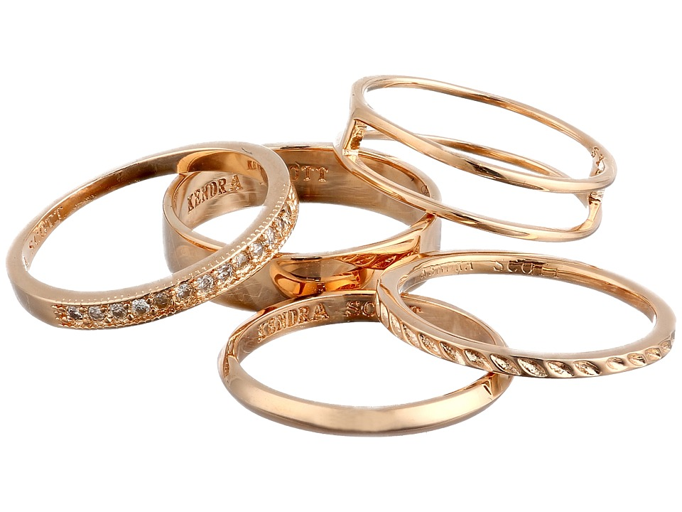 Kendra Scott - Kara Ring/Midi Set (Rose Gold) Ring