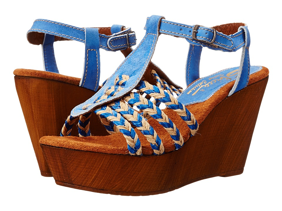 Sbicca - Raite (Blue) Women's Wedge Shoes