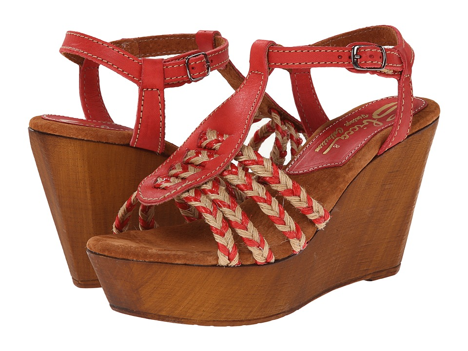 Sbicca - Raite (Red) Women's Wedge Shoes