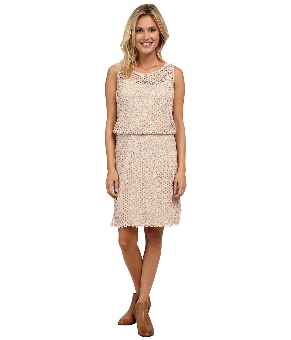 Stetson - P/R Crochet Lace Tank Dress (Brown) Women's Dress