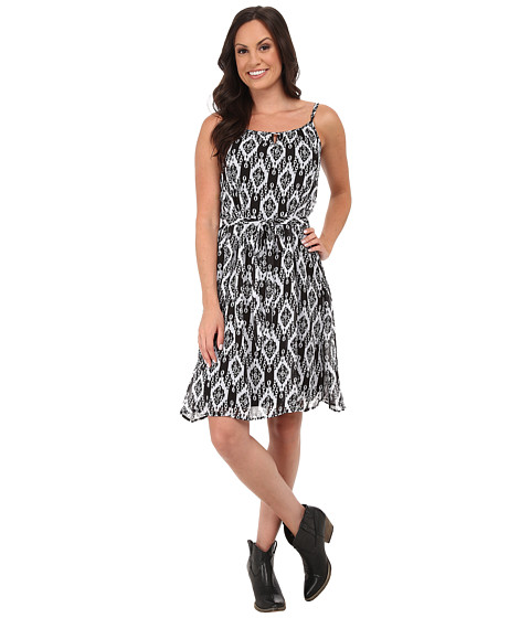 Stetson - Aztec Print Chiffon Sundress (Black) Women's Dress
