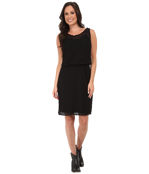 Stetson - P/R Crochet Lace Tank Dress (Black) Women's Dress