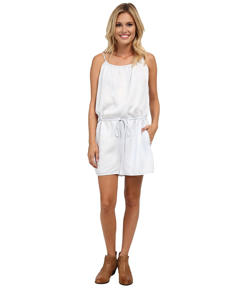 Stetson - Bleached Out Tencel Romper (Blue) Women's Jumpsuit & Rompers One Piece