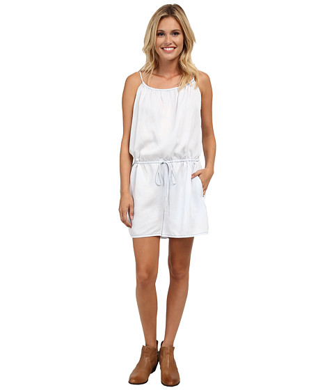 Stetson - Bleached Out Tencel Romper (Blue) Women