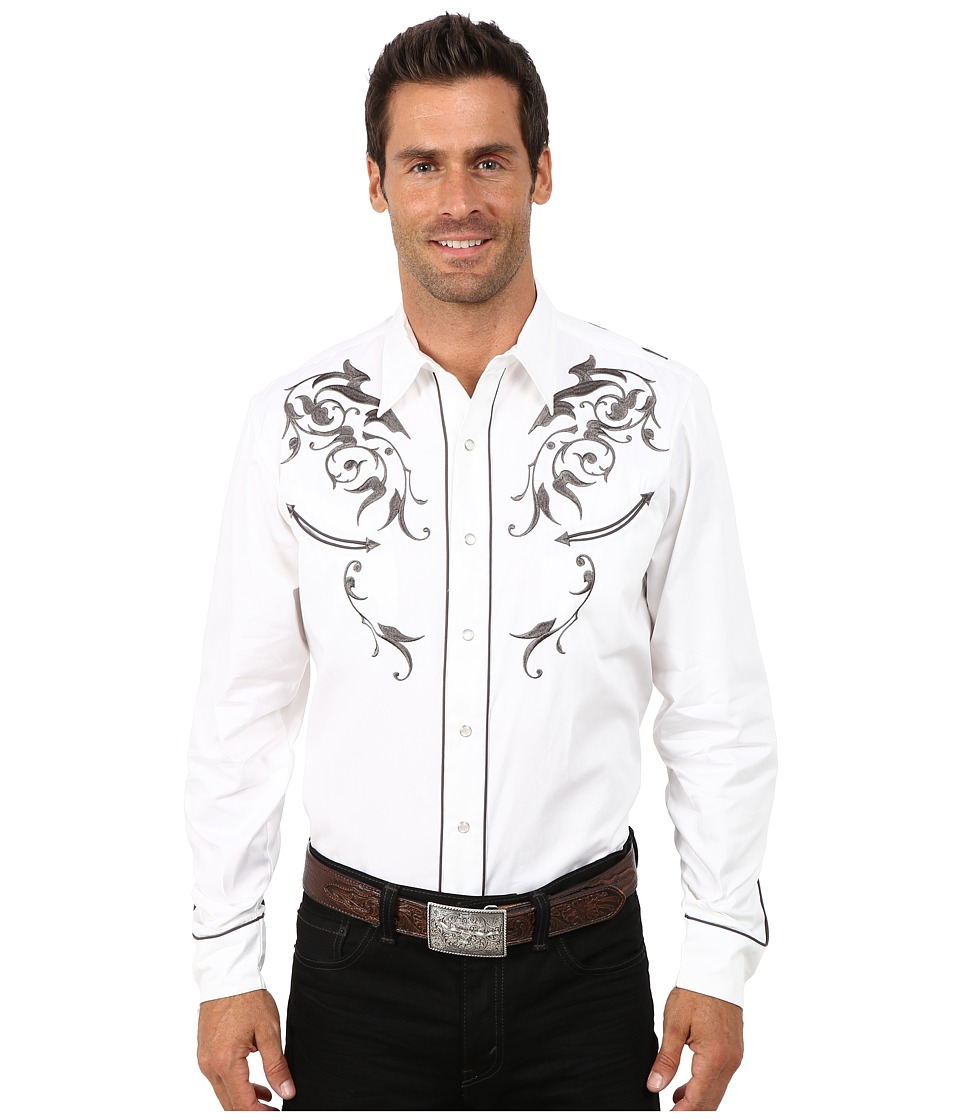 Roper - Cotton Twill w/ Victorian Bracket (White) Men