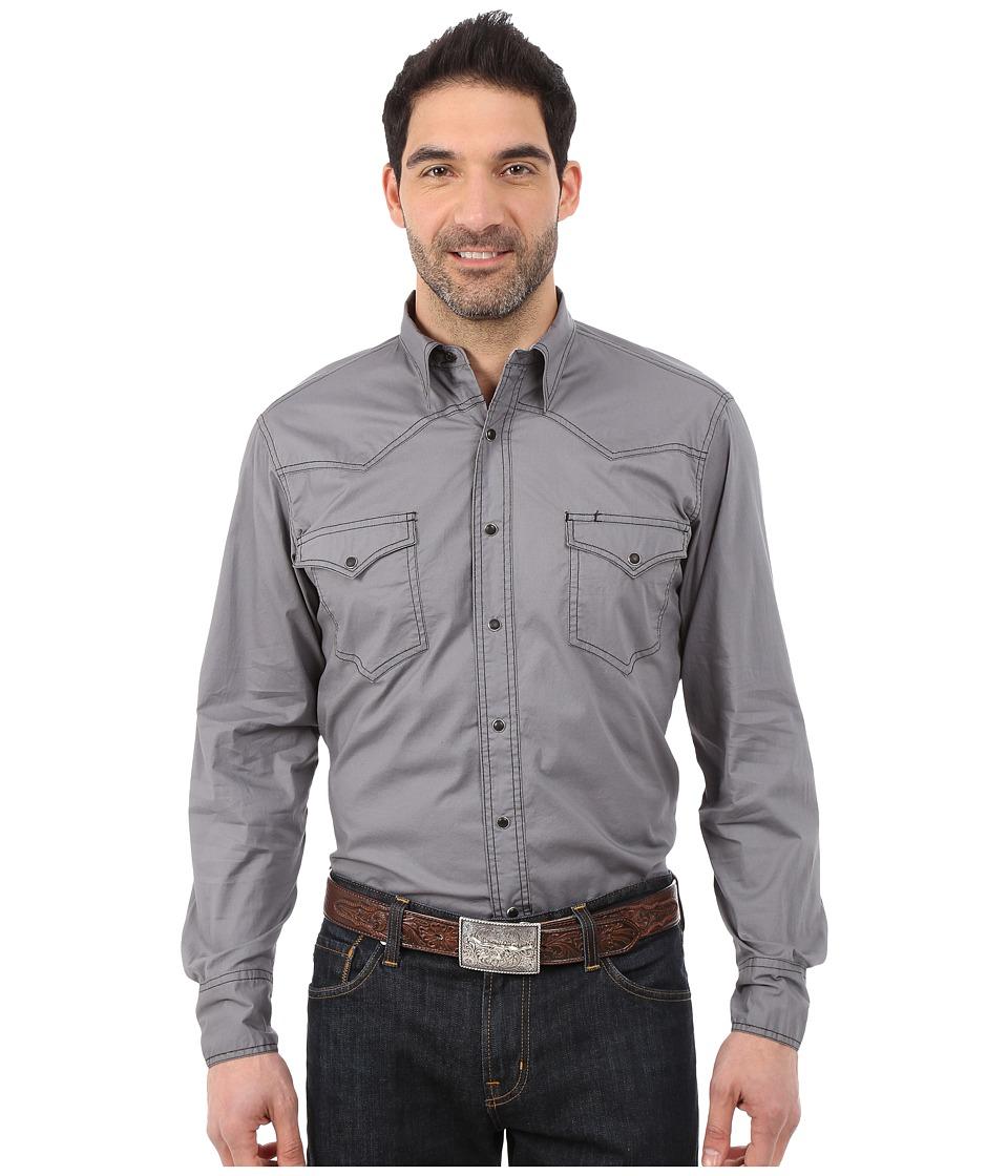 Roper - 9810C1 Solid Gray Poplin (Grey) Men's Clothing