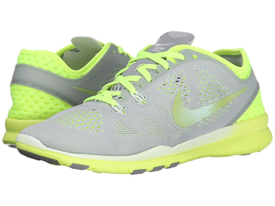 Nike - Free 5.0 Tr Fit 5 Breathe (Wolf Grey/Volt/White/Cyber) Women's Cross Training Shoes