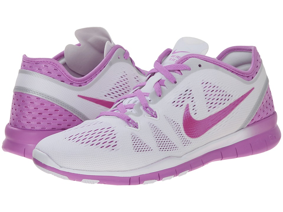Nike - Free 5.0 Tr Fit 5 Breathe (White/Fuchsia Glow/Fuchsia Flash) Women's Cross Training Shoes