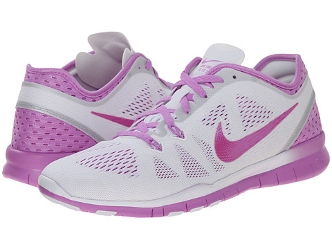 Nike - Free 5.0 Tr Fit 5 Breathe (White/Fuchsia Glow/Fuchsia Flash) Women