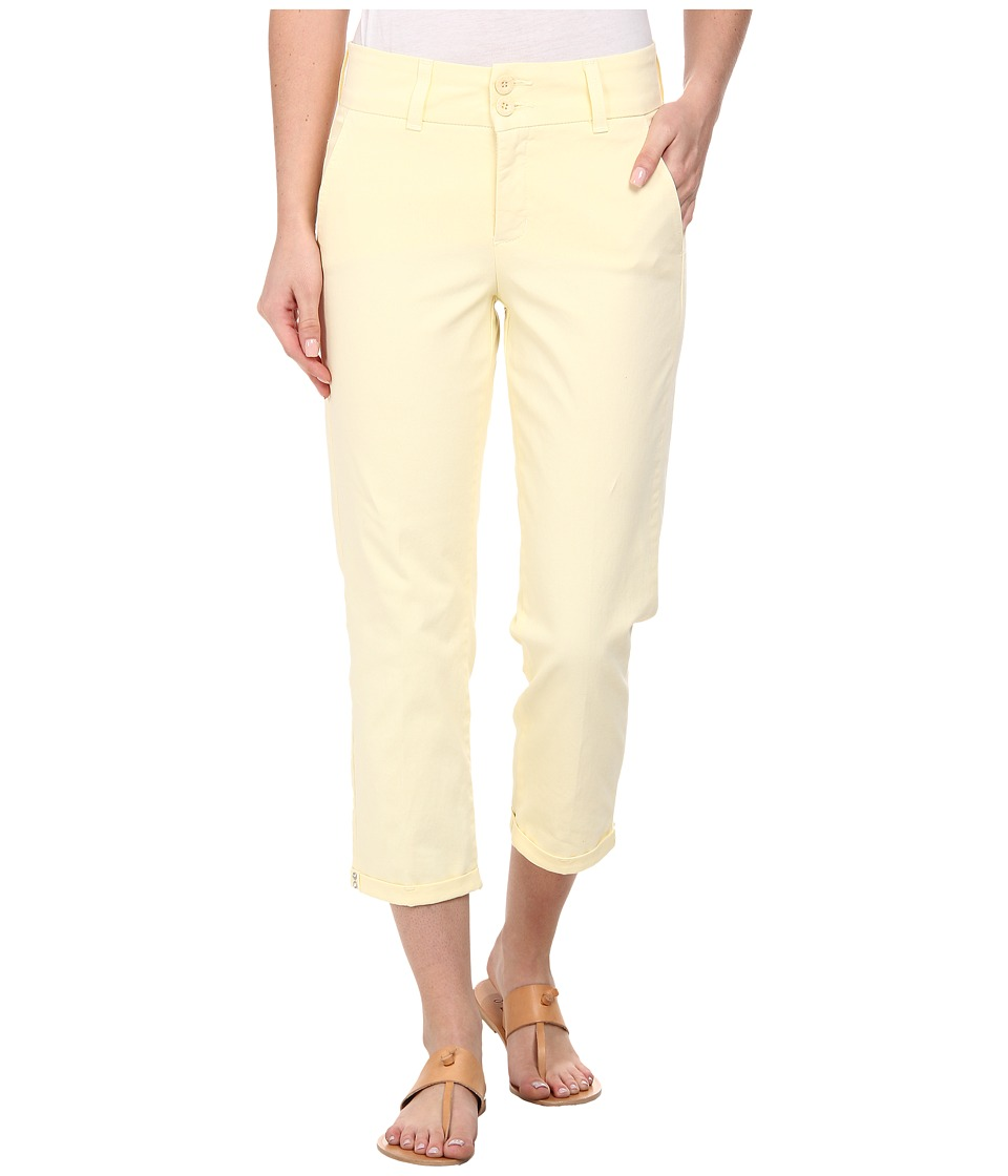 NYDJ - Izzie Capri - Twill Pants (Pale Lemon) Women's Jeans