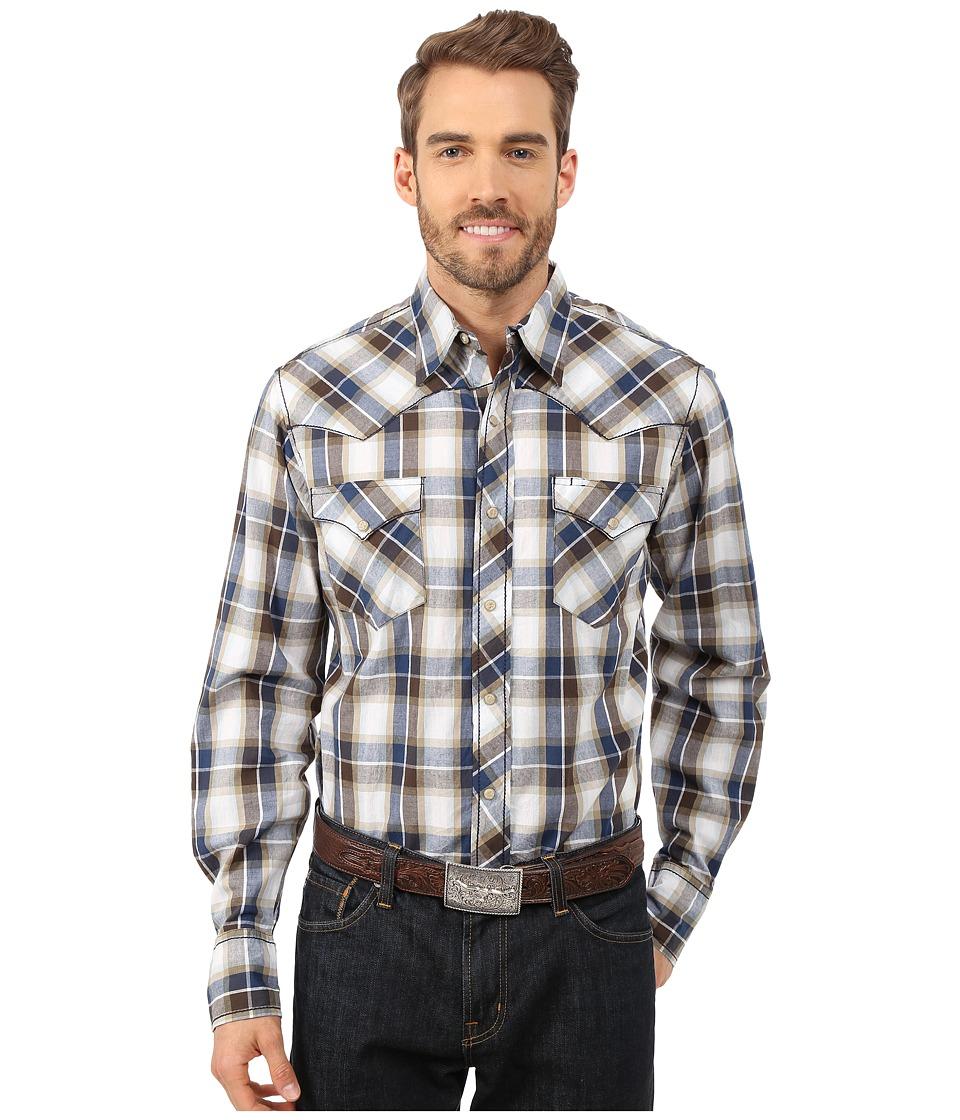 Roper - 9806 King's Plaid (Brown) Men's Clothing