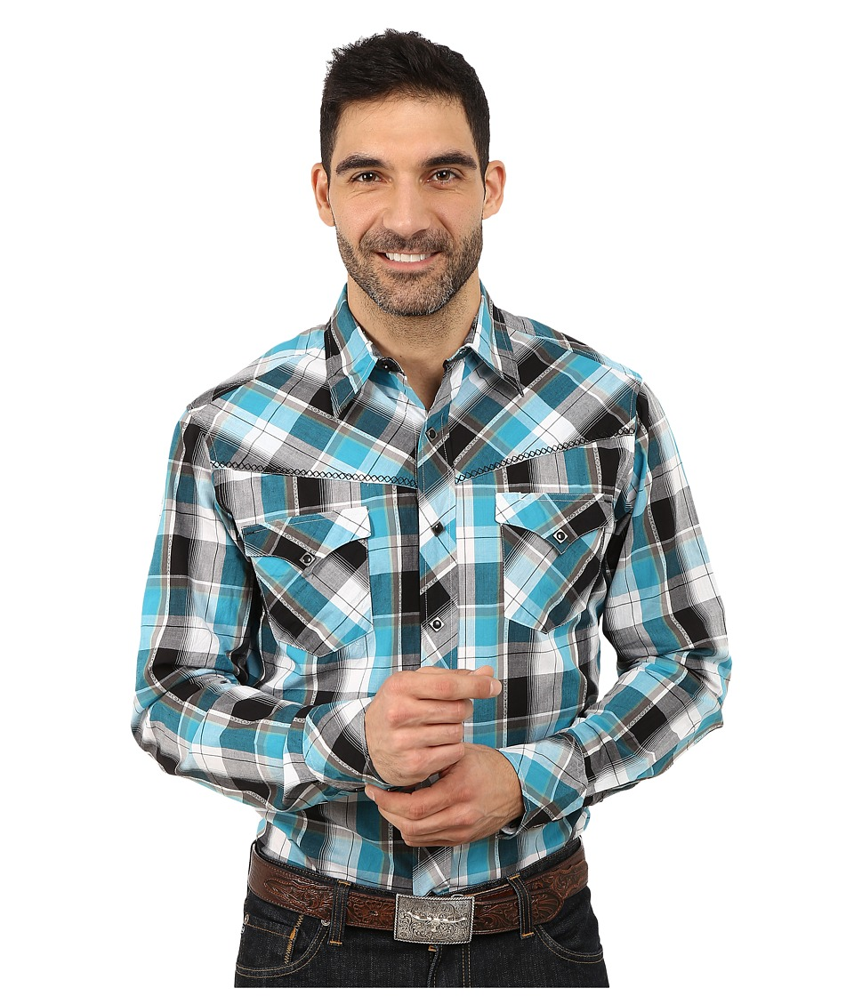 Roper - 9805 Travel Dobby (Blue) Men's Clothing