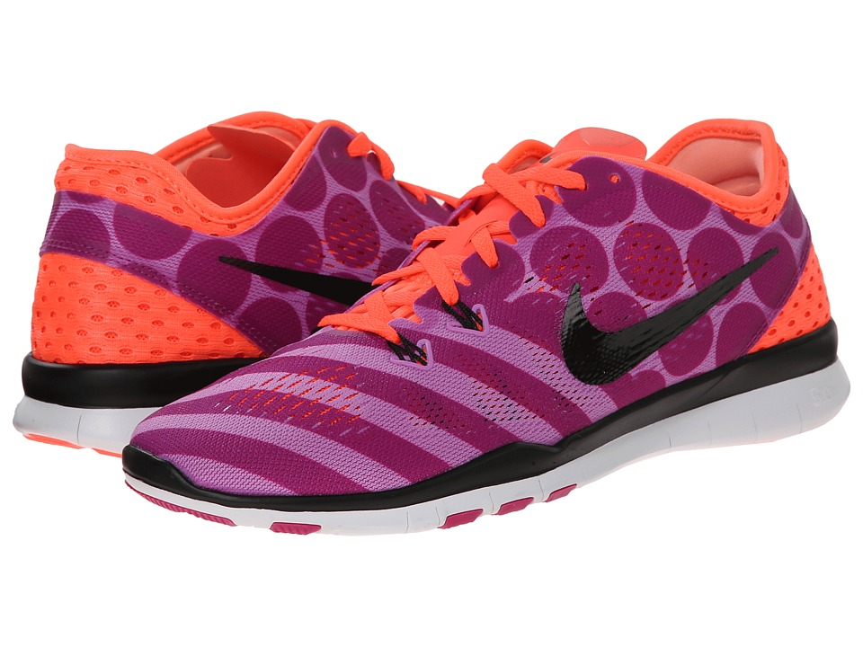 Nike - Free 5.0 TR Fit 5 PRT (Fuchsia Glow/Hot Lava/Fuchsia Flash/Black) Women's Cross Training Shoes