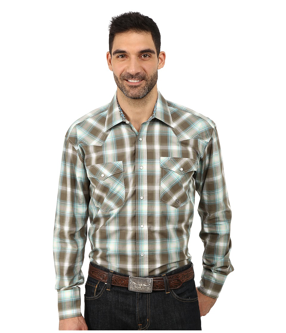 Roper - 9761 Ivy Plaid (Green) Men's Clothing